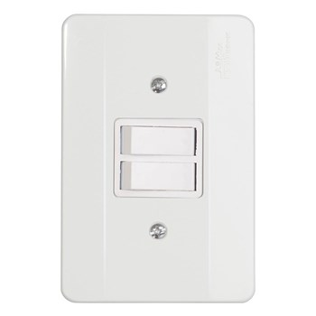 Interruptor 2 Teclas Simples Com Placa Mectronic