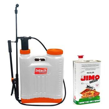 Jimo Cupim Incolor Lata 5L e Pulverizador Costal Intech 20L
