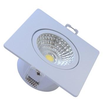 Kit 04 Spots Led Embutir Quadrado 5W 6500K Luz Branca