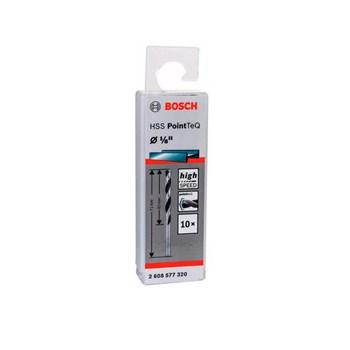 Kit 10 Brocas Aço Rápido Hss Pointteq 1/8 Bosch