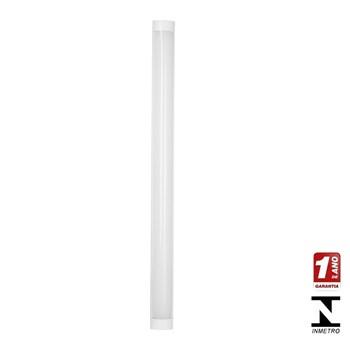 Kit 10 Luminarias Tubular Led Sobrepor Elegance 36w 6500k Calha Bivolt Avant