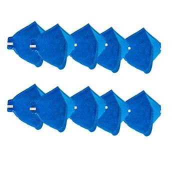 Kit 10 Máscaras Descartavéis Sem Válvula Azul Delta Plus
