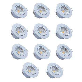 Kit 10 Spots Led Embutir Redondo 5W 6500K Luz Branca