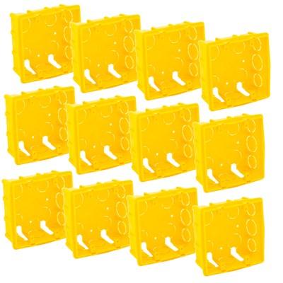 Kit 12 Caixas de Luz 4x4 Amarela Roma