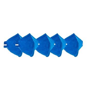 Kit 5 Máscaras Descartavéis Sem Válvula Azul Delta Plus
