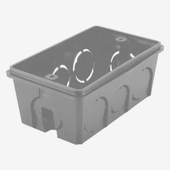 Kit 50 Caixas de Luz 4x2 Preta Dual