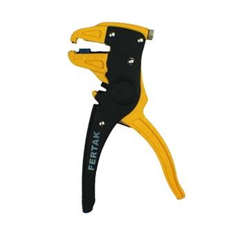 Kit Alicate Desencapador de Fios 2x1 Fertak Tools com Multímetro Digital LCD
