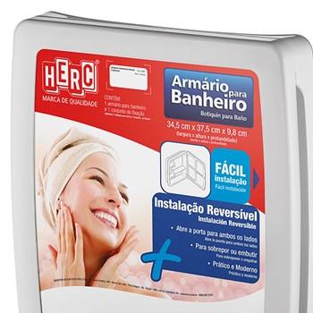 Kit Banheiro Armário com Espelho e Assento Sanitário Herc