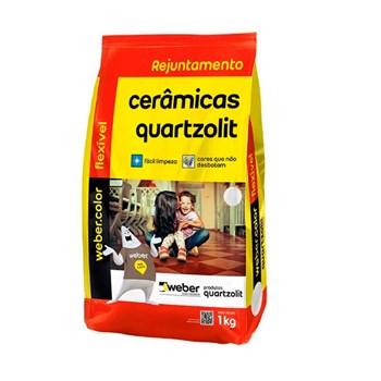 Kit com 15 Rejuntes Cerâmicas Cinza Outono 1kg Quartzolit