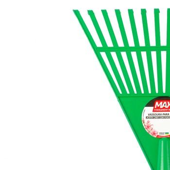 Kit com 6 Vassoura De Plástico 14 Dentes Com Cabo Max