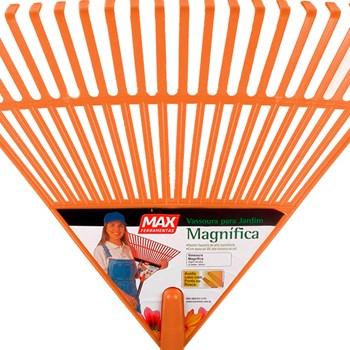 Kit com 6 Vassoura Magnífica Plástica 22 Dentes C/ Cabo Max