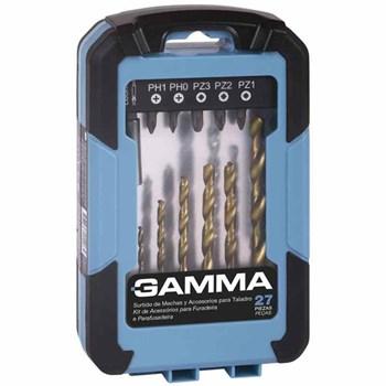 Kit de Acessórios para Furadeira e Parafusadeira G19510AC Gamma 27 peças