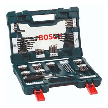 Kit de Pontas e Brocas em Titânio V-Line 91 peças Bosch