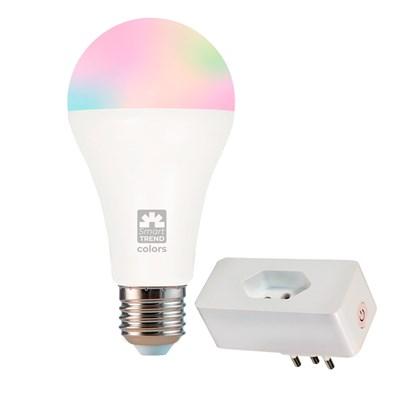 Kit Lâmpada 11W RGB e Plug Smart Wi-Fi Alexa Home Bivolt Trend Kian