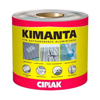 Manta Asfáltica Aluminizada Autoadesiva Kimanta Ciplak 10cm x 10m Sika
