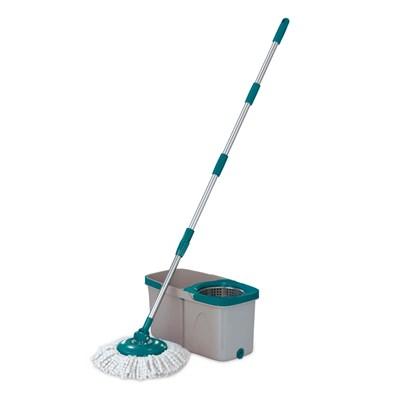 Mop Esfregão Giratório Balde Cesto Duas Águas Flash Limp