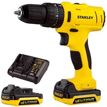 Parafusadeira Furadeira Impacto 12v 3/8 2 Baterias SCH12S2K Stanley Bivolt