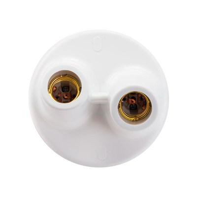 Plafonier Com Soquetes de Porcelana DEMI 2XE27 Branco