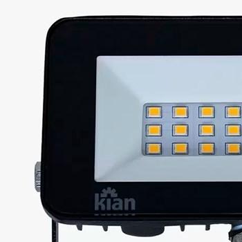 Projetor Holofote Led 10W 3,0000K Preto Kian