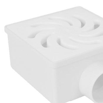 Ralo Sifonado Quadrada nº20 Grelha Branca 100x52x40mm Amanco