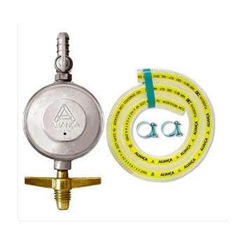 Regulador Registro Para Gás 504/01 Mangueira 1,20m Aliança
