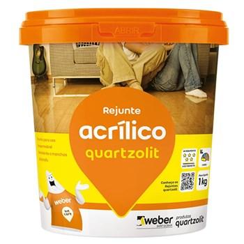 Rejunte Acrilico Cinza Platina 1Kg Quartzolit