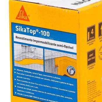 Revestimento Impermeabilizante SikaTop 100 Caixa 4kg Sika Kit com 4