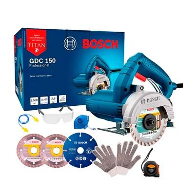 Serra Mármore Bosch Titan 1500W GDC150 c/ 3 Discos e EPI