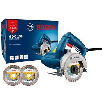 Serra Mármore Bosch Titan 5 Polegadas 1500W GDC150 com 2 Discos