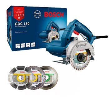 Serra Mármore Titan GDC150 1500W com Discos Originais Bosch