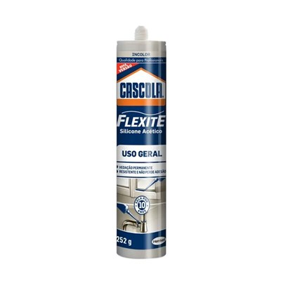 Silicone Cascola Flexite Uso Geral 252g Henkel