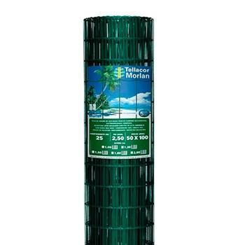 Tela Soldada PVC Verde 25x1,0M Fio 13 Morlan