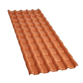 Telha PVC Plan Cor Colonial Cerâmica 2.42x0.88m C/ Kit Instalação Precon