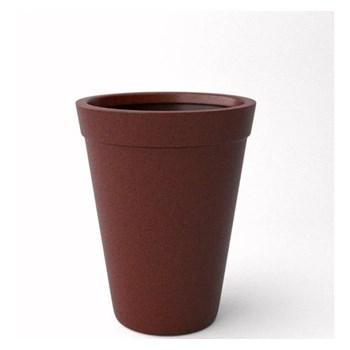 Vaso para Planta Conico com Bordas 45cm Café Afort
