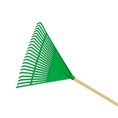 Vassoura de Ancinho Plástica Verde Com Cabo FJ1011 Trapp